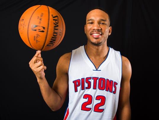 Avery Bradley of the Detroit Pistons Portraits