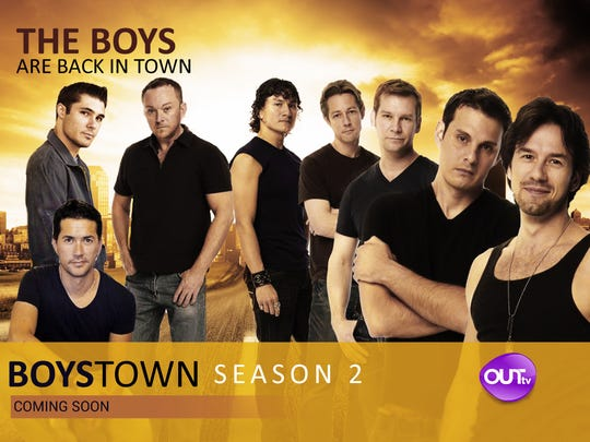 "Ricky Reidling, (second from left standing) appears in this promo photo for his show ""Boystown."" The Palm Springs filmmaker now wants to shoot a series in the desert."