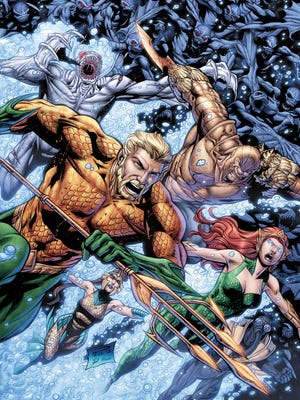 """The undersea hero rallies the troops for a final battle against the Dead King of Atlantis in """"Aquaman"""" No. 25."""