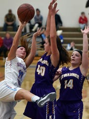 Southern Door's Bailey Hanson puts up an off-balance