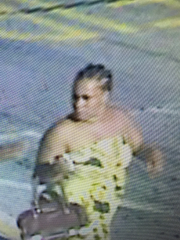 State police are searching for a woman, who the department says, poured bleach on another woman during a verbal dispute at Target Thursday.