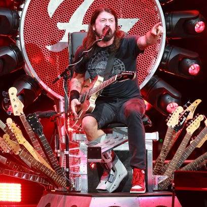 Dave Grohl performs with Foo Fighters Thursday night