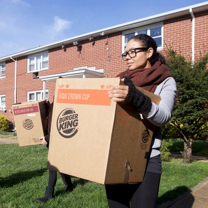 Erica Rodriguez, 34, of Toms River, helped donate meals