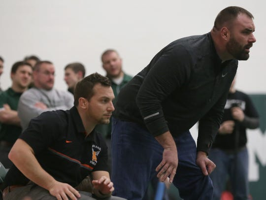 Head coach Sean Seder (left) and assistant Clell Cox