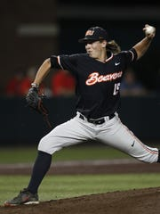 In this May 31, 2015, Oregon State's Luke Heimlich
