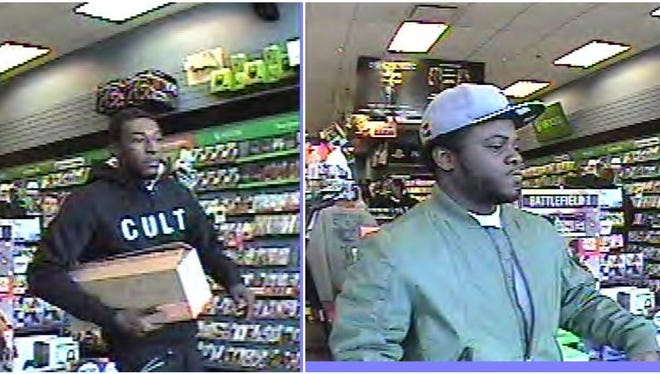 Livonia police say these two individuals took several thousands of dollars in gaming equipment Oct. 28 from a Livonia GameStop.
