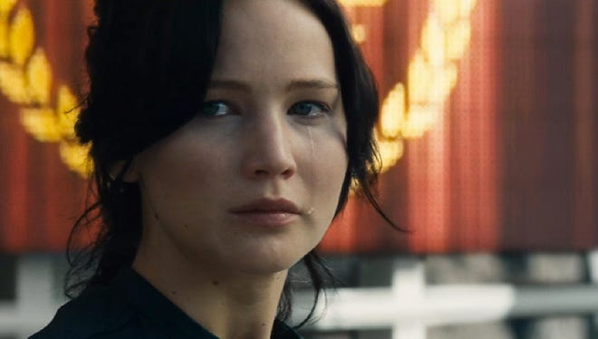 Jennifer Lawrence in a scene from the online trailer for the motion picture 'The Hunger Games: Catching Fire.'