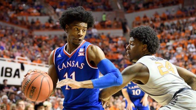 Kansas Jayhawks guard Josh Jackson is a popular pick for the Phoenix Suns in NBA mock drafts.