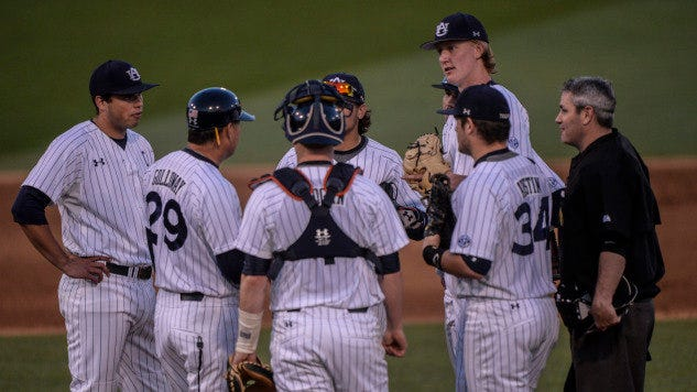 The Auburn baseball team needs a win and a loss by either Tennessee or Georgia to earn an SEC tournament berth.