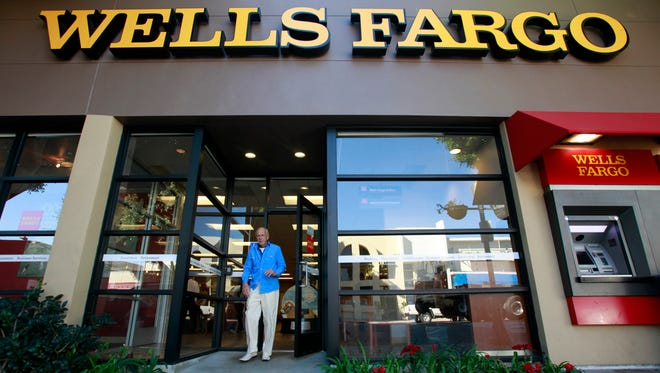 A Wells Fargo bank branch in Los Angeles.