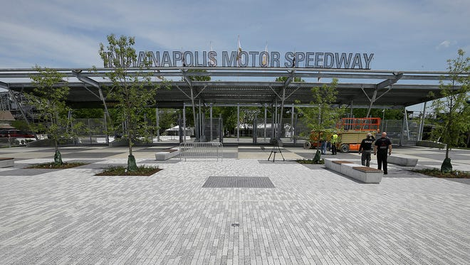 Indianapolis Motor Speedway's Project 100 is in the final stages as the 100th running of the Indianapolis 500 is just weeks away. The new Gate #1 for fans at the Indianapolis Motor Speedway.