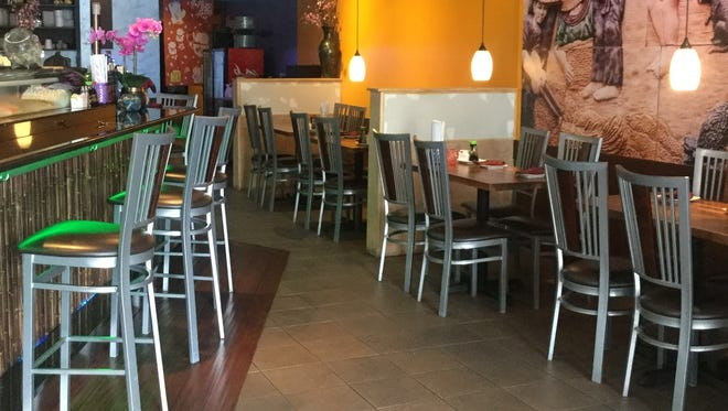 Thai Thai Noodle Bar has inside and outside dining areas at its location off Airport-Pulling Road.