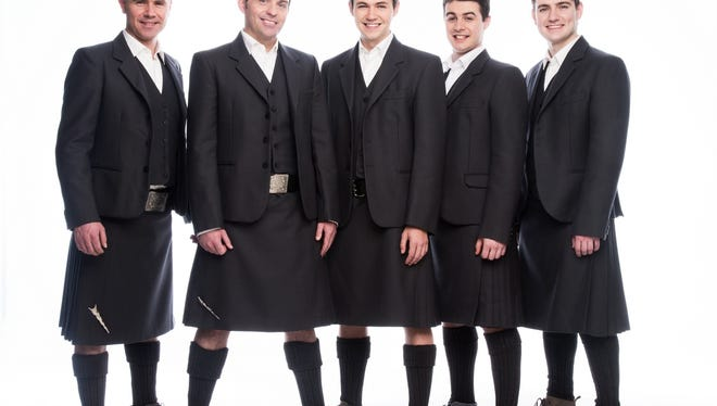 Celtic Thunder, from left: Neil Byrne, Ryan Kelly, Damian McGinty, Michael O'Dwyer and Emmet Cahill.
