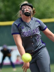 Spanish Springs Tyra Clary throws a pitch against Douglas in the state semifinal game Friday.