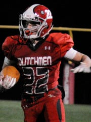 Annville-Cleona's Cameron Hoch during the game against Donegal on Friday, November 4, 2016. The Dutchmen beat Donegal 34-14 to clinch a share of the Section 3 title.