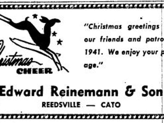 Advertisement from the Dec. 23, 1941, Manitowoc Herald