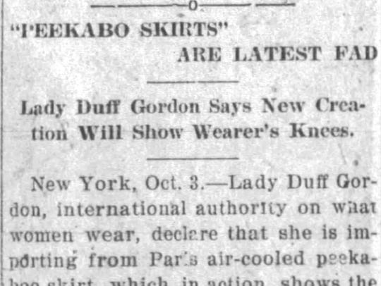 Clip from the 10-4-1912 Staunton News Leader.