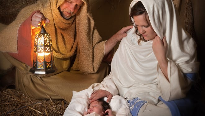 A live Nativity scene bears silent yet poetic witness to the promise of peace on Earth.
