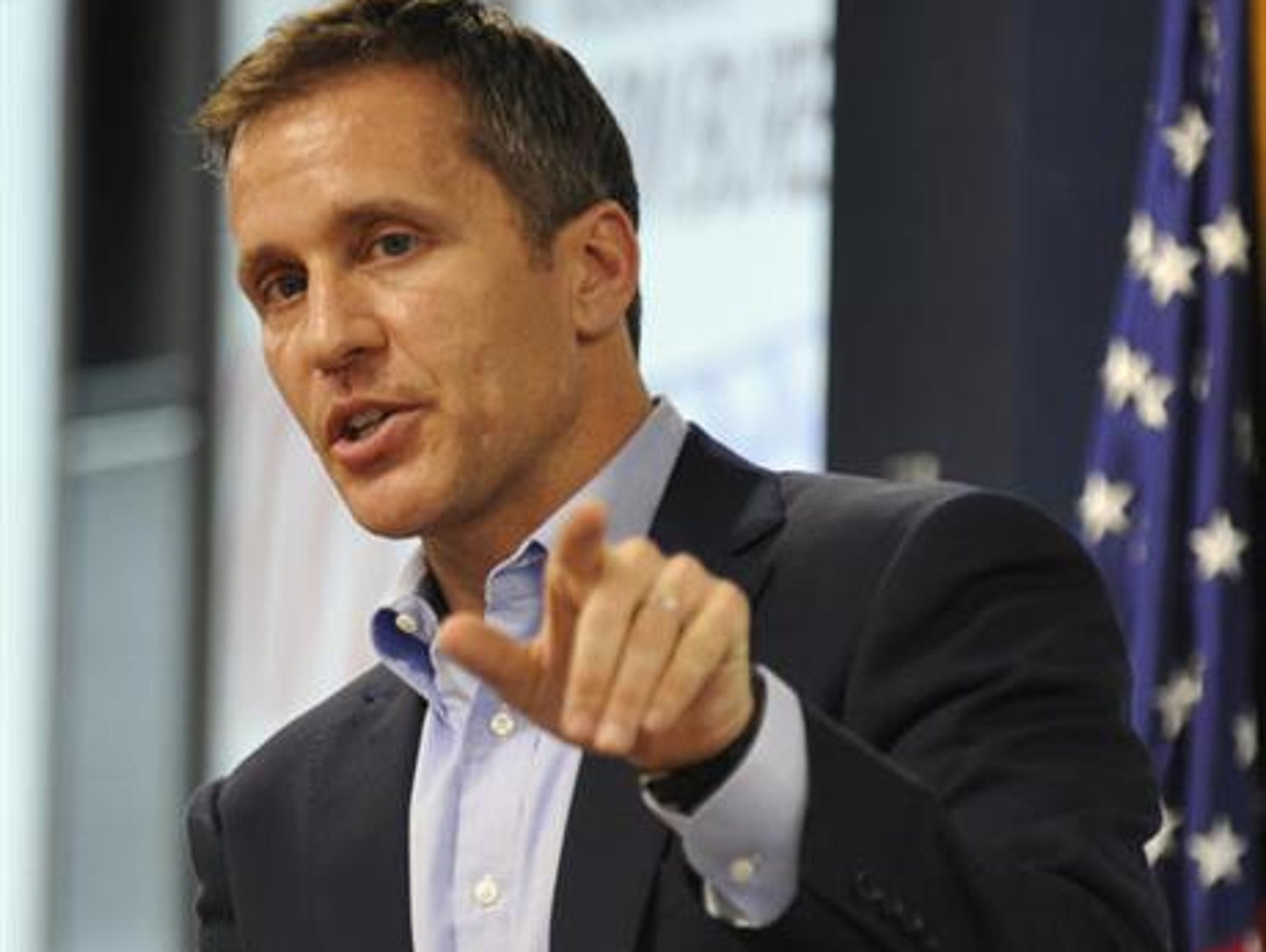 Gov. Eric Greitens has publicly admitted to a 2015 affair but denied threatening to use a semi-nude picture to blackmail the woman, who has avoided comment and asked for privacy.
