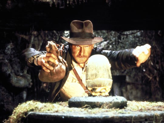"Harrison Ford starred as adventurous archaeologist Indiana Jones in ""Raiders of the Lost Ark."""