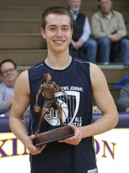 St. Peter's Jared Jakubick won the MVP trophy in the