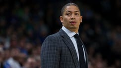 Cleveland Cavaliers head coach Tyronn Lue in the second