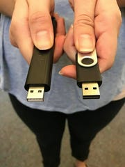 The device on right is a USB port. The device on the