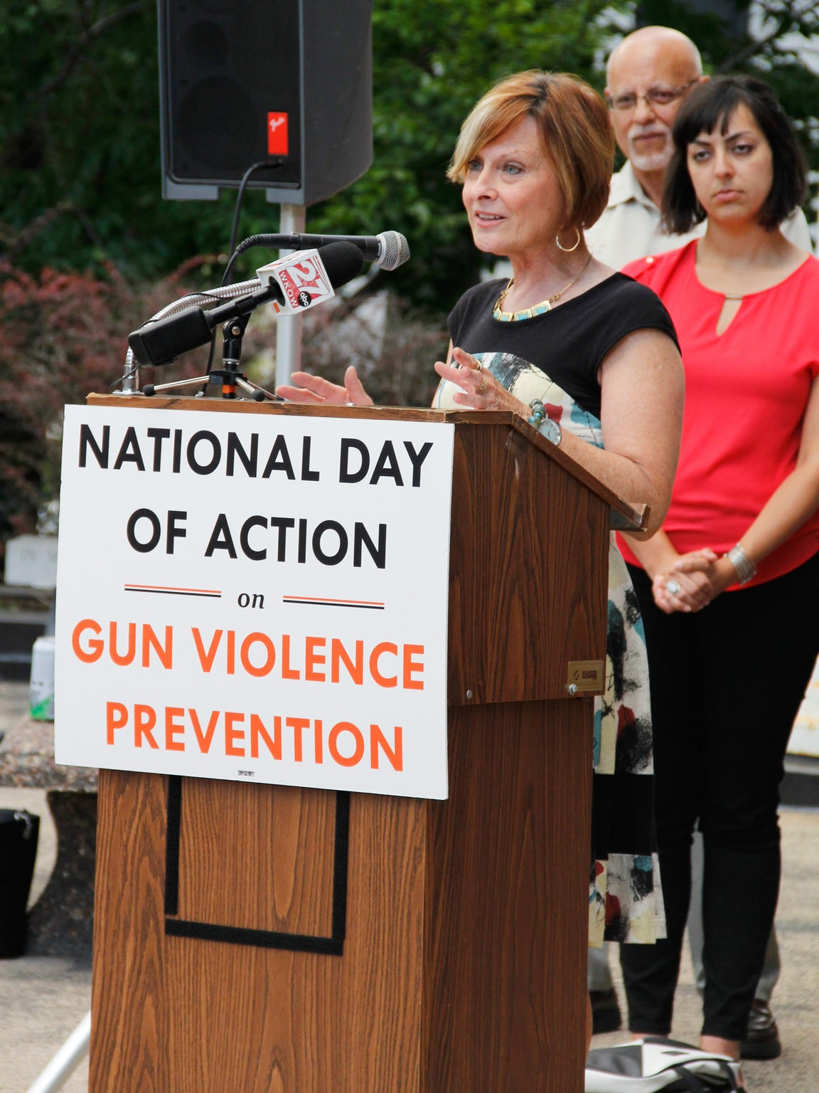State Rep. Terese Berceau, D-Madison, speaks at the
