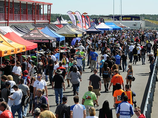 Crowds at the New Jersey Motorsports Park, a multipurpose track with two raceways in Millville.
