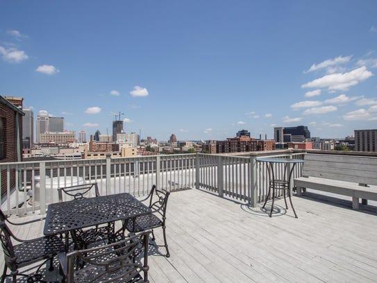 Roof top deck at Lofts at Artspace.