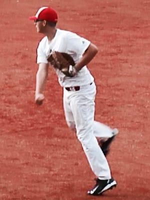 St. Joseph Central Catholic's Rickey Geyer throws at a Prep Baseball Report Ohio Showcase at Ohio State.