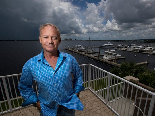 KC Schulberg is the new Calusa Waterkeeper executive director. He was photographed at High Point Place in Downtown Fort Myers on Tuesday, July 31, 2018.