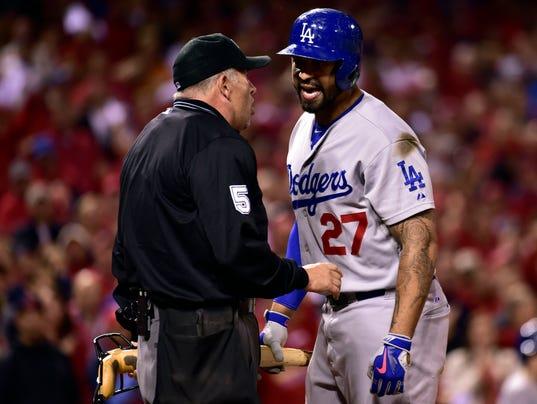 USP MLB: NLDS-LOS ANGELES DODGERS AT ST. LOUIS CAR S BBN USA MO