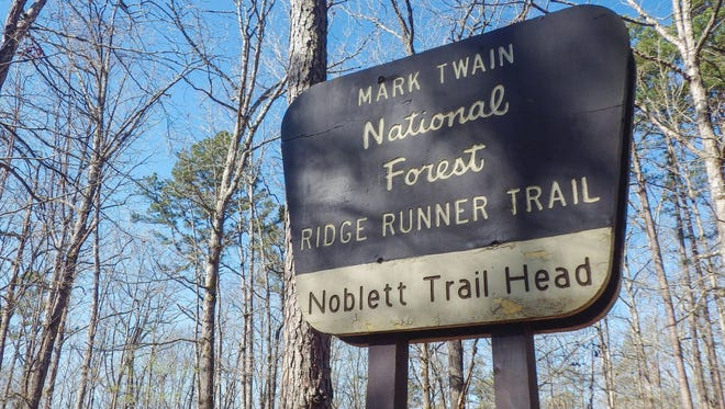 The 22-mile Ridge Runner Trail, established in 1980,  is about an hour and a half east of Springfield.
