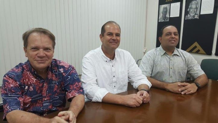 The newly elected leaders of the Guam Chamber of Commerce