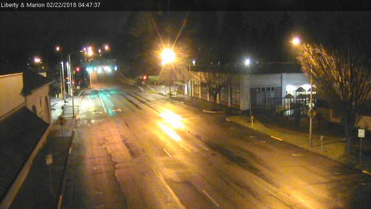 Thursday Salem road report: Wet streets with little accumulated snow