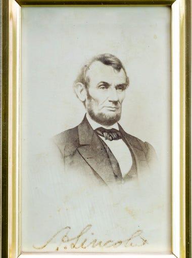 A signed 19th century carte-de-viste photograph of