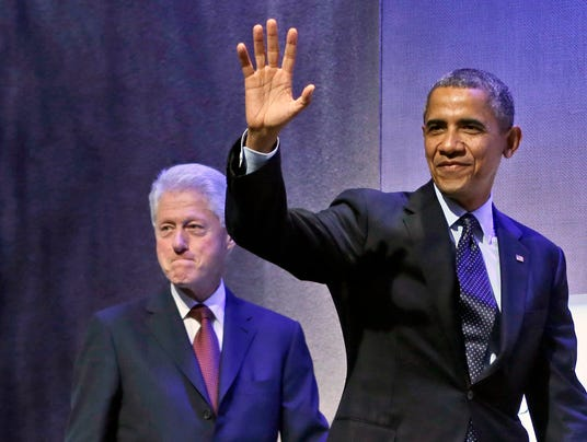 Obama and Bill Clinton