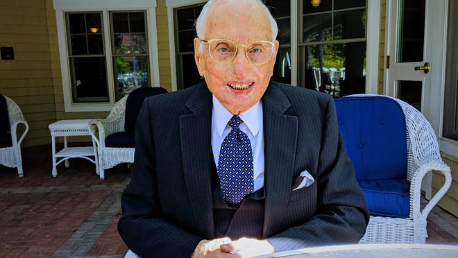Rev. Wilbert Gough still sits at his typewriter several times a week, writing sermons that he later distributes to anyone who is interested at Sentry Hill at York Harbor, where he lives. Gough will turn 102 on June 13, 2020.