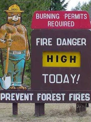 The Wisconsin Department of Natural Resources set the fire-danger level Tuesday for high.