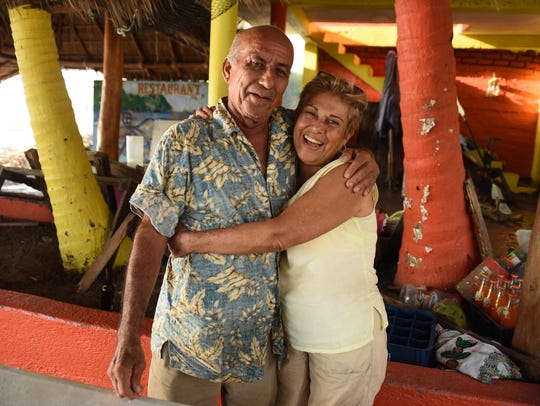 Maria de Jesus Guzman, 70, and Andrés Aceves, 72, owners