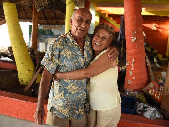 Maria de Jesus Guzman, 70, and Andrés Aceves, 72, owners