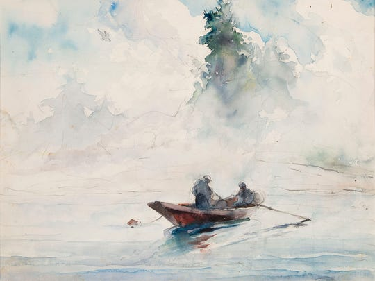 """Andrew Wyeth's """"Two Figures in a Dory"""" from 1937 will be part of """"Andrew Wyeth: In Retrospect,"""" which is coming to the Brandywine River Museum of Art in June."""
