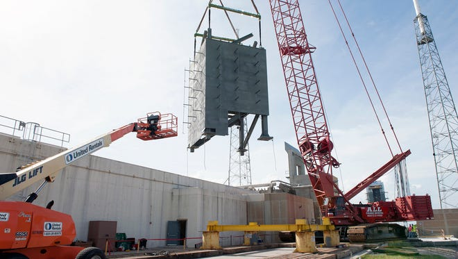 On Sept. 15, a crane lifted the first tier for placement at Launch Complex 41 to form the Crew Access Tower under construction by Boeing and United Launch Alliance. The steel structure is being built in seven pieces that will be stacked atop each other to form a 200-foot-tall tower complete with elevator, communications and power infrastructure, and an escape system. The tower will provide astronauts and ground support teams access to Boeing's CST-100 Starliner spacecraft, in development in partnership with NASA's Commercial Crew Program.