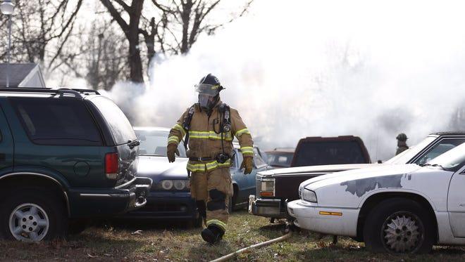 A fire broke out at Art's Shop on Kearney on Thursday, Dec. 15, 2016.