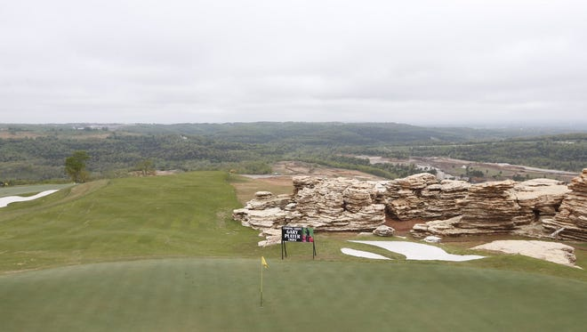 Photos from the announcement of a new golf course in Branson, designed by Tiger Woods.