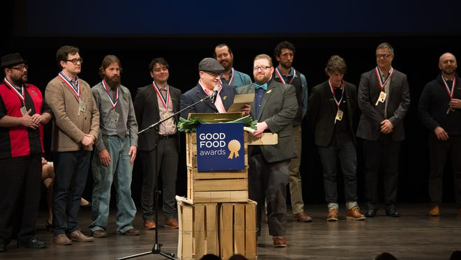 Beau Vondra, co-owner of Look's Market in Sioux Falls, joined others on stage at last year's Good Food Awards in San Francisco. He returns again Friday as a judge for the national event.