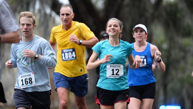 Over 1000 runners and numerous spectators gathered on a dreary Sunday morning for the 44th Tallahassee Marathon, Feb. 4, 2018