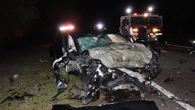 One person is dead and two others are injured after a crash on State Road 29 and Oil Well Road.