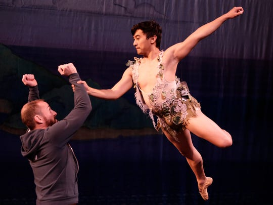 Jeremy Zapanta as Peter Pan and Jared Nelson, associate